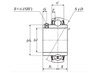 Bearing Insert w/ Set Screw, Wide Inner Ring - Spherical O.D. - Dimensions