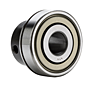 Bearing Insert w/ Eccentric Locking Collar, Narrow Inner Ring - Cylindrical O.D., Snap Ring Groove