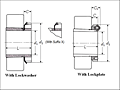 Adapter, Sleeve with Lockwasher / Lockplate - Dimensions
