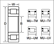 Single Row Cylindrical Roller Bearings - Non-Separable Type - Dimensions