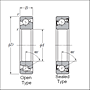 Single Angular Contact Thrust Ball Bearings for Ball Screws - Dimensions