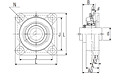 Ultra-Class Four Bolt Flanged Unit with Set Screw, ARFU Type - Dimensions