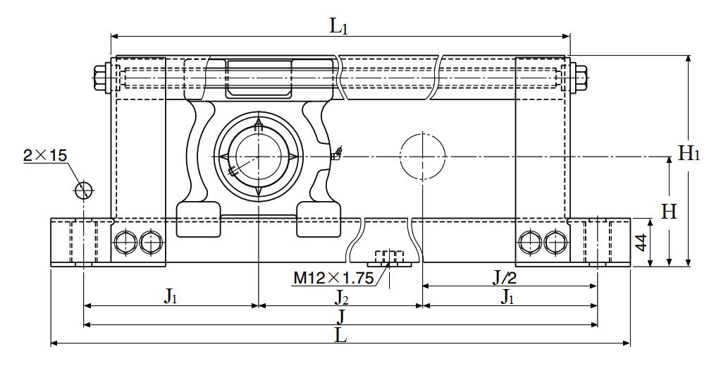Item # UCL208-30, Stretcher Unit, Set Screw, UCL Type On NTN Bearing
