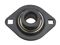 Two Bolt Rhombus Flanged Unit, Pressed Steel Housing, Eccentric Locking Collar, AELPFL Type