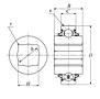Heavy Duty Disc Bearing - Square Bore, Cylindrical O.D., Type 5 - Dimensions