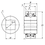 Heavy Duty Disc Bearing - Square Bore, Cylindrical O.D., Type 6 - Dimensions