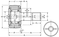 Cam Follower Stud Type Track Roller Bearing - Spherical O.D., CR..LL Type - Dimensions