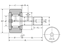 Cam Follower Stud Type Track Roller Bearing - Cylindrical O.D., CR..H Type - Dimensions