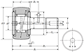 Cam Follower Stud Type Track Roller Bearing - Spherical O.D., KR..LLH Type - Dimensions