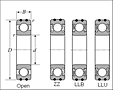 AC Bearings - Dimensions