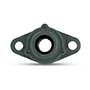 Two Bolt Rhombus Flanged Unit, Cast Housing, Set Screw, Cast Dust Cover, Open End, UCFL Type