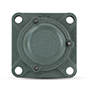 Four Bolt Square Flanged Unit, Cast Housing, Set Screw, Cast Dust Cover, Closed End, UCF Type