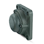 Four Bolt Square Flanged Unit, Cast Housing, Set Screw, Cast Dust Cover, Closed End, UCF Type - 3