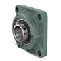 Four Bolt Square Flanged Unit, Cast Housing, Set Screw, Cast Dust Cover, Closed End, UCF Type - 5