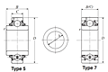 Farm Implement Round Bore Bearings - Cylindrical O.D. - Dimensions