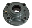 Four Bolt Round Flange Unit, Cast Housing, Adapter, Cast Dust Cover, Open End, UKFC Type