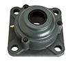 Four Bolt Square Flanged Unit, Cast Housing, Adapter, Cast Dust Cover, Open End, UKF Type
