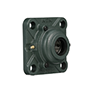 Four Bolt Square Flanged Unit, Cast Housing, Adapter, Cast Dust Cover, Open End, UKFS Type - 2