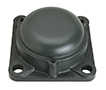 Four Bolt Square Flanged Unit, Cast Housing, Set Screw, Cast Dust Cover, Closed End, UCFS Type