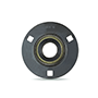 Three Bolt Round Flange Unit, Pressed Steel Housing, Eccentric Locking Collar, AELPF/AELRPF Type