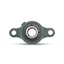 Two Bolt Rhombus Flanged Unit, Ductile Cast Housing, Set Screw, UCFE Type